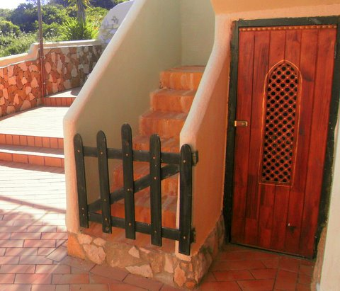 Bungalow Palmeira stairs to terrace